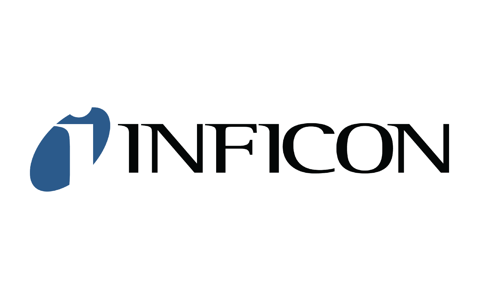 inficon logo in blue and black