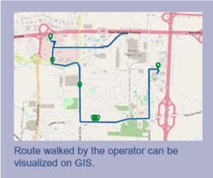 IRwin® Leak Detector Integrated GPS route visualized