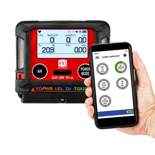 Gx3R Pro-five gas monitor-portable multi-gas-3